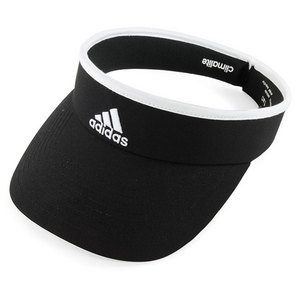 adidas WOMENS MATCH BLACK/WHITE TENNIS VISOR