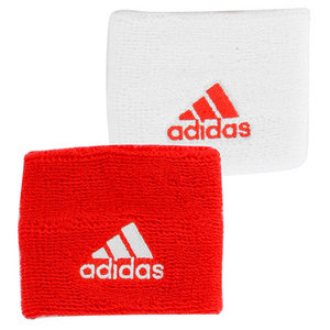 adidas SMALL TENNIS WRISTBAND RED AND WHITE