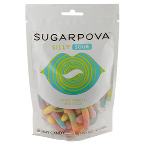 SUGARPOVA SILLY SOUR WORM GUMMIES