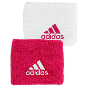 adidas SMALL TENNIS WRISTBAND PINK AND WHITE