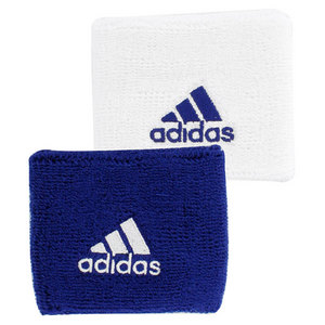 adidas SMALL TENNIS WRISTBAND WHITE AND NAVY
