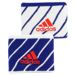 adidas SMALL TENNIS WRISTBAND WHITE/NAVY STRIPE