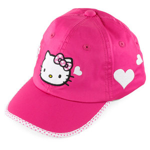 HELLO KITTY TENNIS LOVE HAT MAGENTA