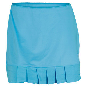 K-SWISS WOMENS MESH PLEAT TENNIS SKORT BLUE