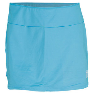 K-SWISS WOMENS RETRO HEM TENNIS SKORT BLUE