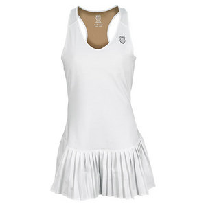 K-SWISS WOMENS SMASH IT TENNIS DRESS WHITE
