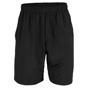 K-SWISS MENS TRAINING WOVEN TENNIS SHORT BLACK