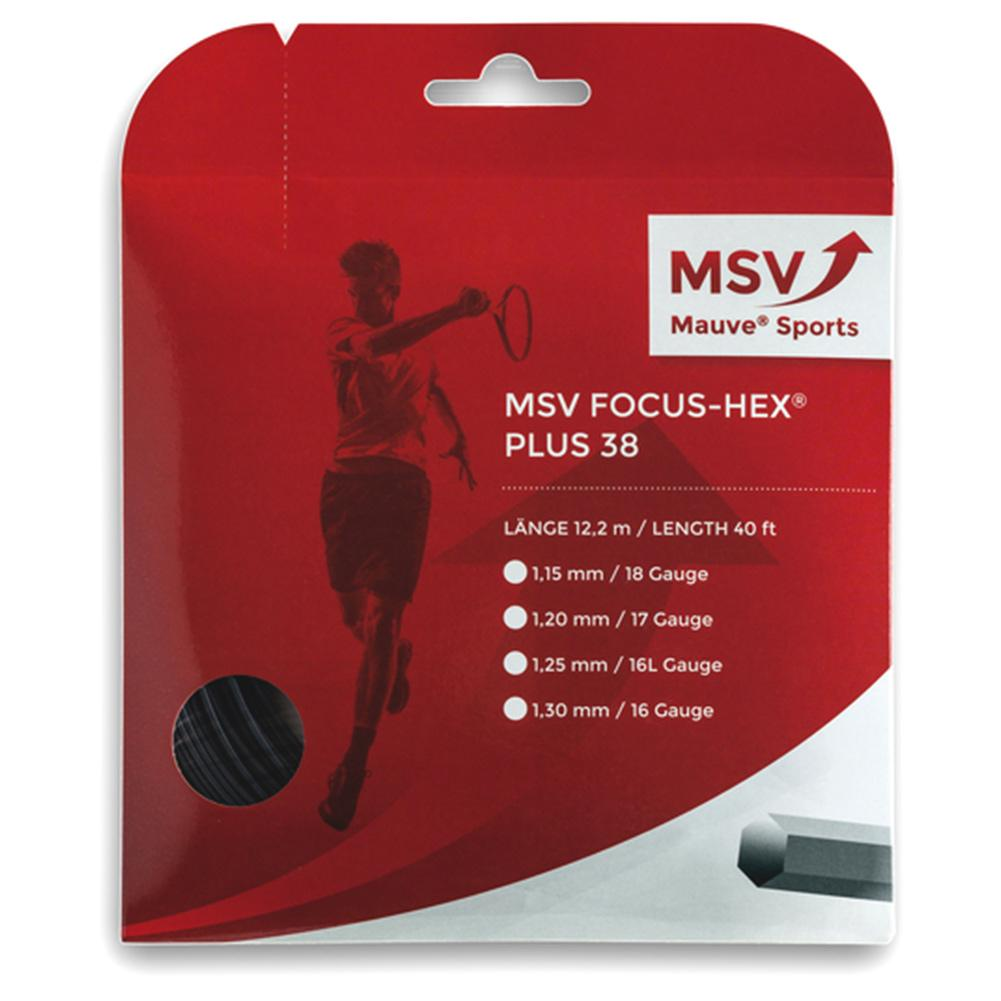 Msv Focus Hex + 38 125 Tennis String Black