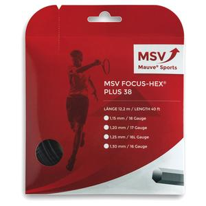 MAUVE SPORTS MSV FOCUS HEX +38 125 TENNIS STRING BK