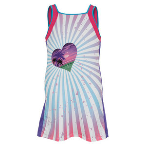 LUCKY IN LOVE GIRLS TROPICAL TENNIS DRESS PRINT