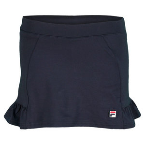 FILA GIRLS RUFFLED TENNIS SKORT NAVY