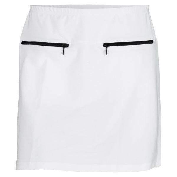 Women's Zipper Tennis Skort White