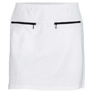 ELIZA AUDLEY WOMENS ZIPPER TENNIS SKORT WHITE