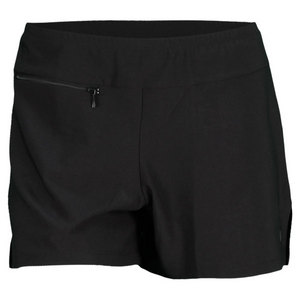 ELIZA AUDLEY WOMENS BASIC SLIT TENNIS SHORT BLACK/RD