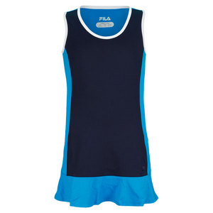FILA GIRLS HERITAGE TENNIS DRESS NAVY