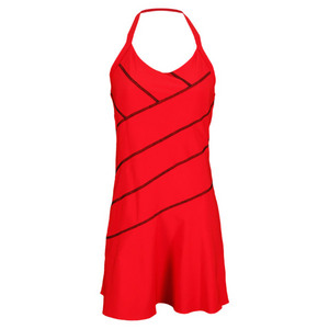 ELIZA AUDLEY WOMENS STITCH ANGLE TENNIS DRESS RED
