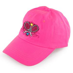LOVEALL WOMENS CROSSED RACQUETS TENNIS CAP PK