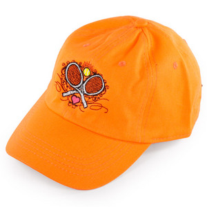 LOVEALL WOMENS CROSSED RACQUETS TENNIS CAP OR