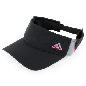 adidas WOMENS ATHLETE TENNIS VISOR BLACK/BLOOM