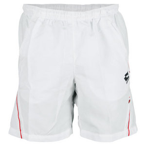 LOTTO MENS LED TENNIS SHORT WHITE