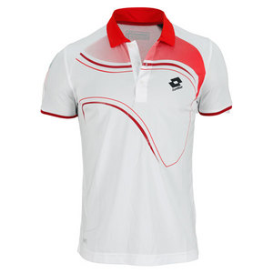 LOTTO MENS LED TENNIS POLO WHITE
