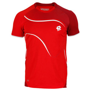 LOTTO MENS LED TENNIS TEE RED