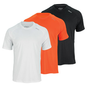 ASICS MENS FAVORITE SHORT SLVE PERFORMANCE TOP