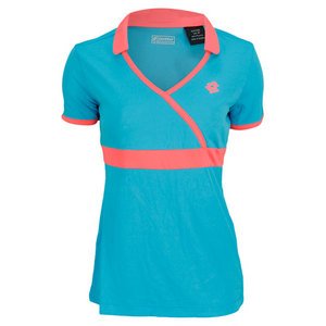 LOTTO WOMENS NOA CAP SLEEVE TENNIS TOP BLUE