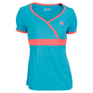 LOTTO WOMENS NOA TENNIS TEE BLUE