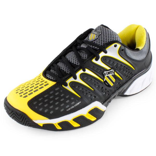 k swiss s bigshot ii tennis shoes black and yellow ebay