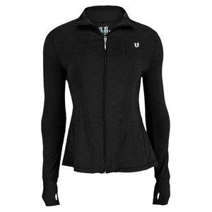 ELEVEN WOMENS LOVE GAME TENNIS JACKET BLACK