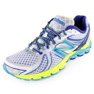 NEW BALANCE WOMENS 870V3 RUNNING SHOES WH/BL/YELLOW