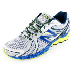 NEW BALANCE MENS 870V3 RUNNING SHOES WH/BL/YELLOW