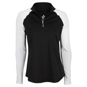 JOFIT WOMENS CASABLANCA LS MOCK TOP BLACK/WH