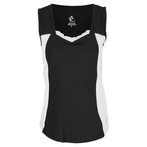 JOFIT WOMENS CASABLANCA GINA TENNIS TOP BLACK