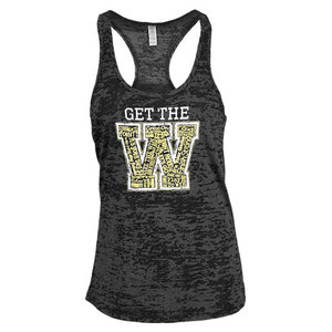 LOVEALL WOMENS GET THE W TENNIS TANK BLACK