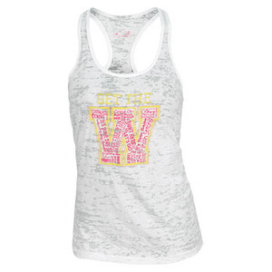 LOVEALL WOMENS GET THE W TENNIS TANK WHITE