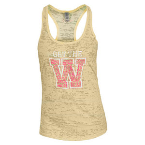 LOVEALL WOMENS GET THE W TENNIS TANK YELLOW