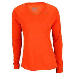 ASICS WOMENS FAVORITE LONG SLEEVE TOP ORANGE