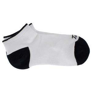 Women`s No Show Cushion Tennis Socks White and Black