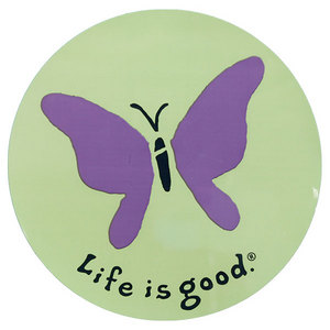 LIFE IS GOOD ELEMENTAL BUTTERFLY 4 INCH STICKER