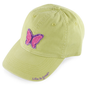 LIFE IS GOOD GIRLS  BUTTERFLY TATTERED CHILL CAP GRN