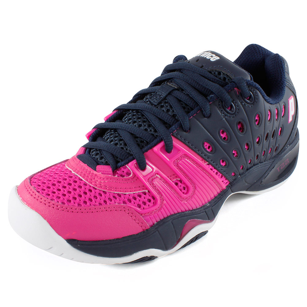 prince womens t22 tennis shoes navy punch