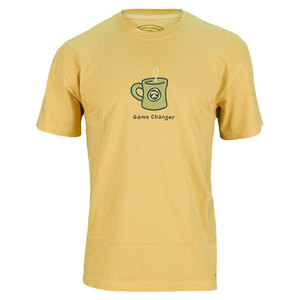 LIFE IS GOOD MENS GAME CHANGER CRUSHER TEE GOLD