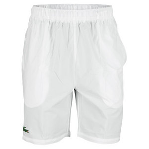 LACOSTE MENS ANDY RODDICK POLYESTER SHORT WHITE