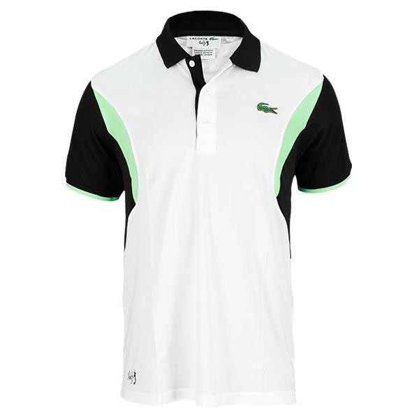 Men's Andy Roddick Geometric Tennis Polo White