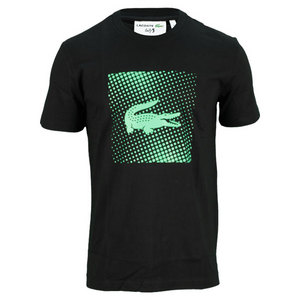 LACOSTE MENS ANDY RODDICK JERSEY CROC TEE BK/GN