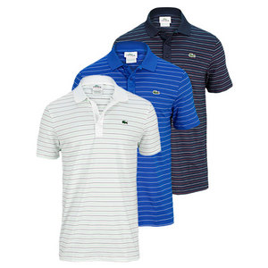 LACOSTE MENS ULTRA DRY FINE STRIPE TENNIS POLO