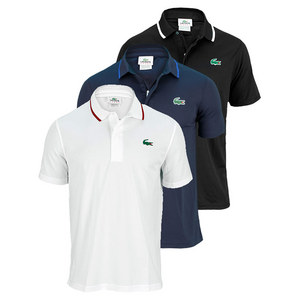 LACOSTE MENS ULTRA DRY ZIP PLACKET TENNIS POLO