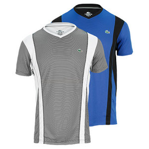 LACOSTE MENS SHORT SLEEVE ULTRA DRY TENNIS TEE